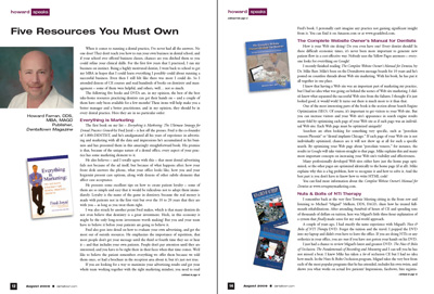 Five Resources You Must Own by Howard Farran